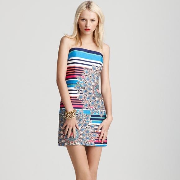 a07275bff668 Laundry by Shelli Segal Dresses | Striped Peacock Dress | Poshmark